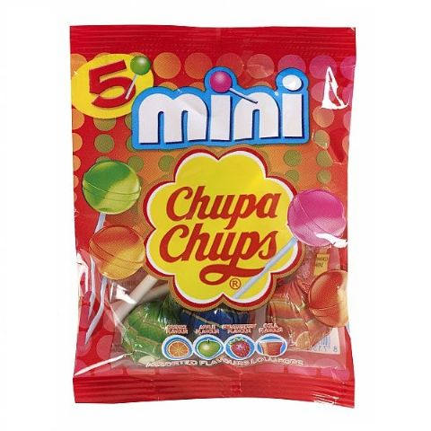 5 x Mini Chupa Chups Lollipop Sweets Lollies In Party Bag 30g